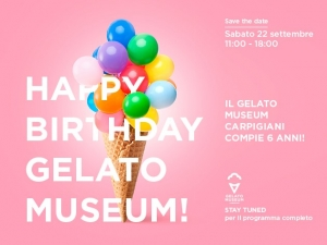 Happy birthday Gelato Museum Carpigiani